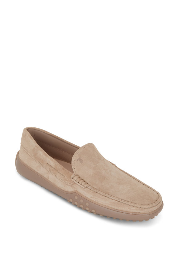 Tod's New Gommini Sand Suede Driver