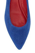 Pas de Rouge - Janet Denim Blue Suede Studded Slingback, 25mm
