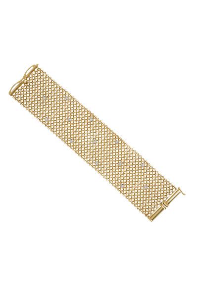 Kathleen Dughi - Yellow Gold Mesh Diamond Bracelet