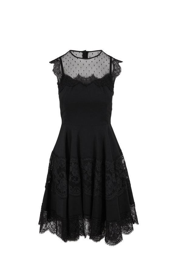 Dolce & Gabbana Black Lace Inset Sleeveless Dress