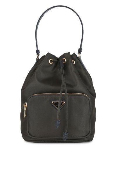 Prada - Army Green Nylon Bucket Bag