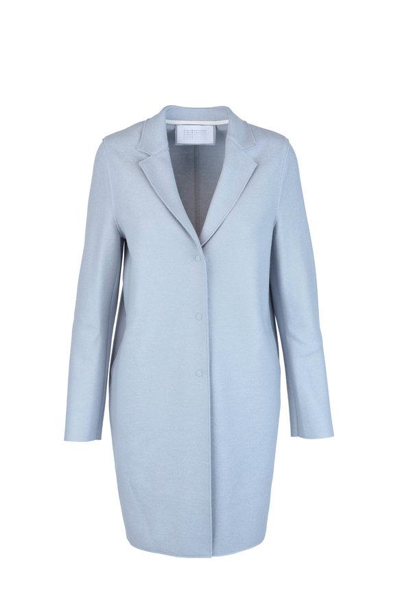 Harris Wharf Light Blue Wool Cocoon Coat