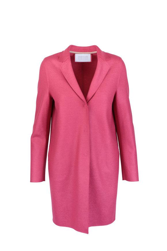 Harris Wharf Raspberry Wool Cocoon Coat