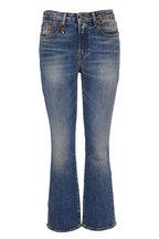 R13 - Kick Fit Jasper Stretch Crop Flare Jean