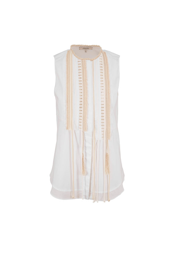 Dorothee Schumacher Poplin Power White Sleeveless Top