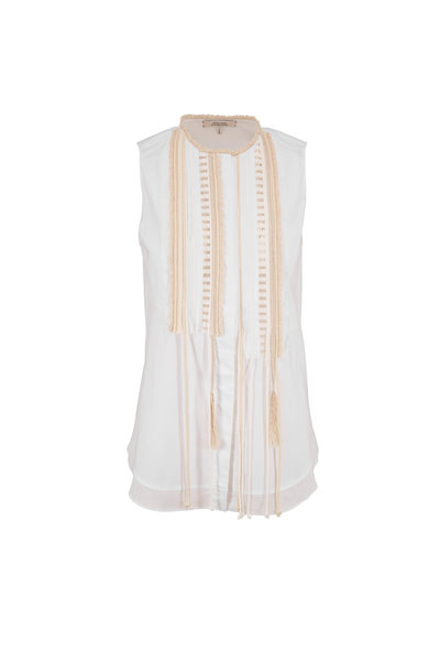 Dorothee Schumacher - Poplin Power White Sleeveless Top