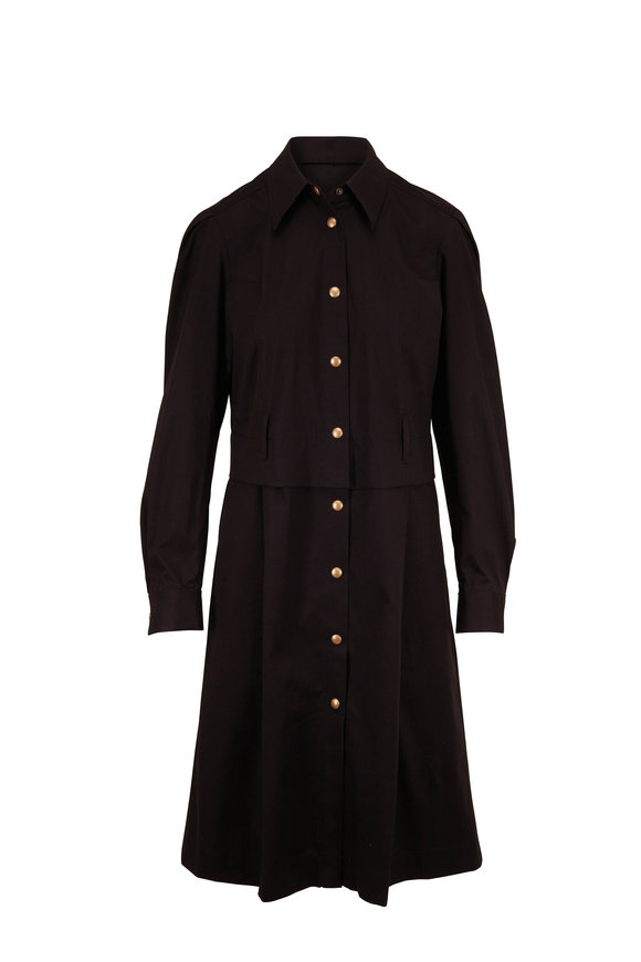 Dorothee Schumacher Desert Adventure Black Long Sleeve Shirtdress