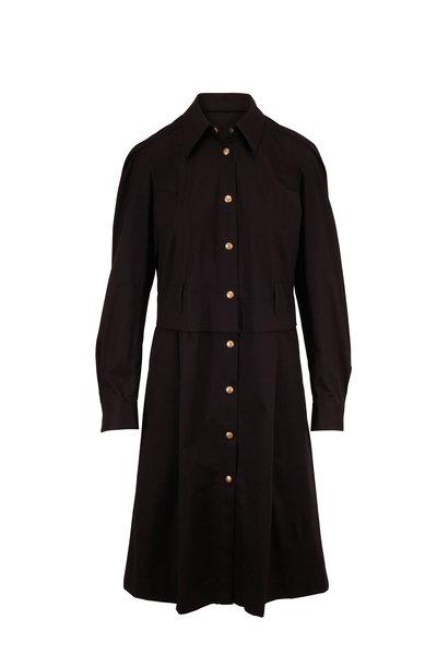 Dorothee Schumacher - Desert Adventure Black Long Sleeve Shirtdress