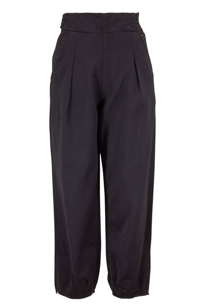 AG - Adel Sulfur Black Charcoal Crop Pleated Pant