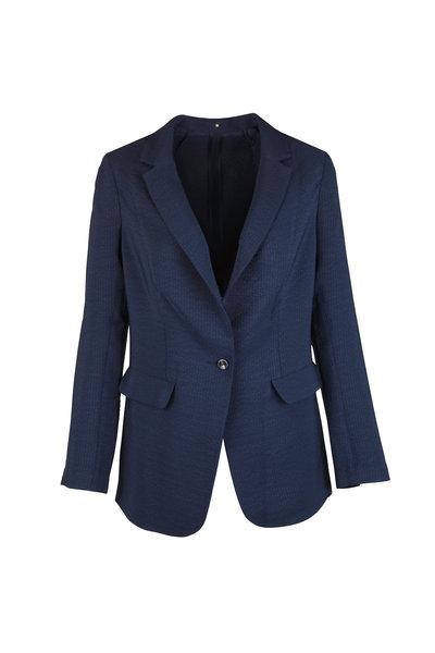 Peter Cohen - Navy Blue Silk Jacket