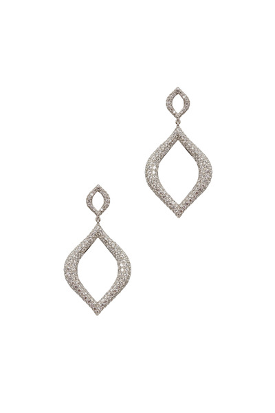 Kathleen Dughi - White Gold Marquise Diamond Drop Earrings