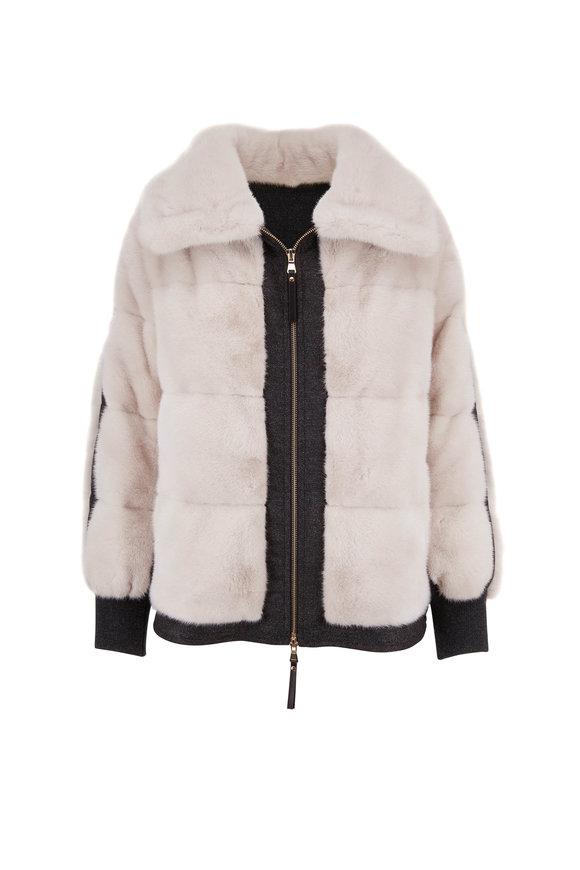 Reich Furs Pearl Mink & Cashmere Front Zip Coat
