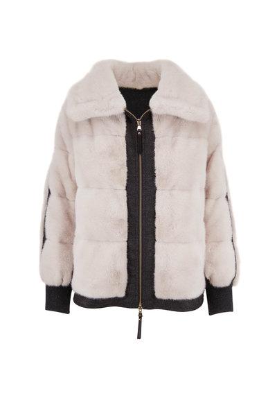 Reich Furs - Pearl Mink & Cashmere Front Zip Coat