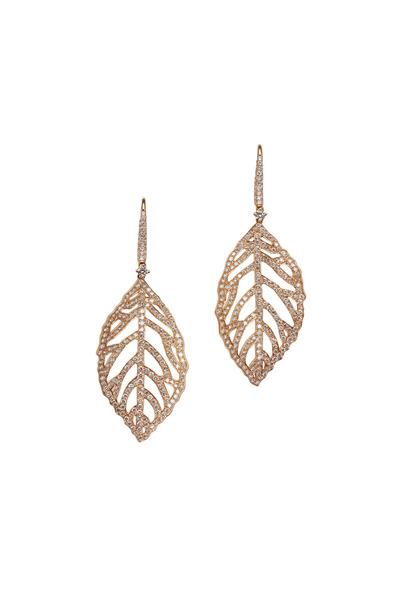 Kathleen Dughi - Florette Rose Gold Diamond Dangle Earrings