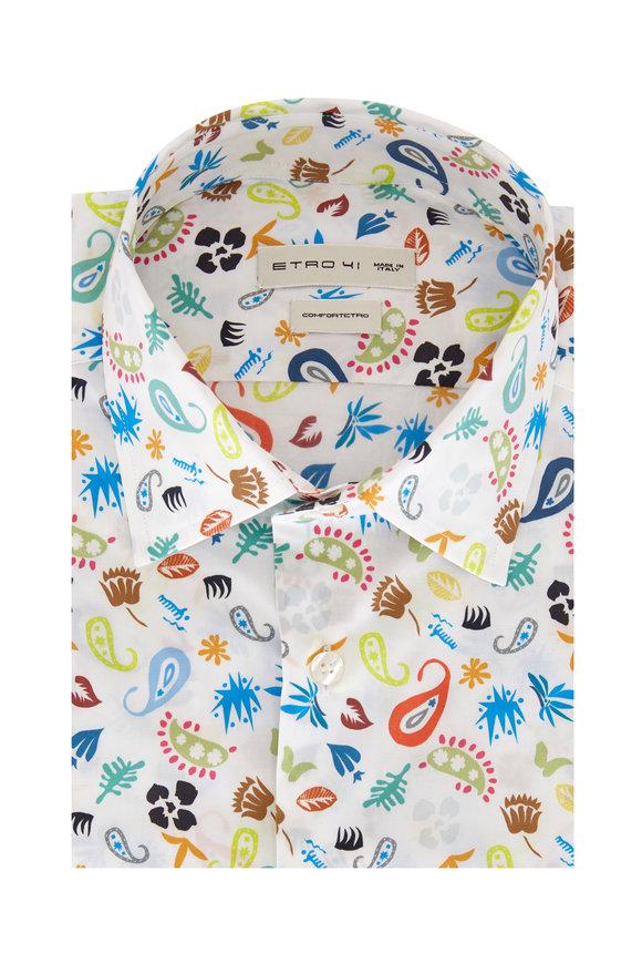 Etro Multi Desert Print Sport Shirt