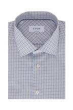 Eton - Blue & Black Check Contemporary Fit Dress Shirt