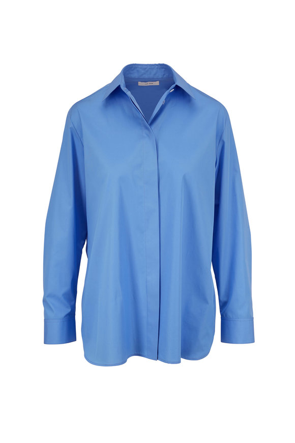The Row Big Sisea Blue Button Down Shirt