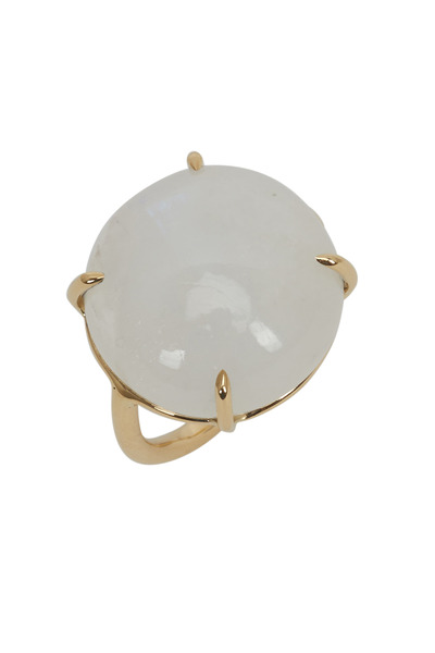 Emily & Ashley - Yellow Gold Small Cabochon Blue Opal Ring