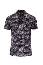 Orlebar Brown - Felix Black Palm Print Resort Polo