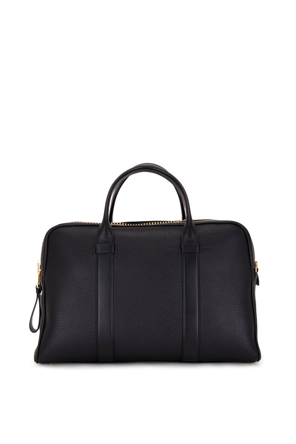 Tom Ford T Line Black Grained Leather Briefcase