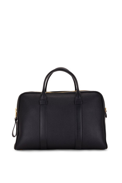 Tom Ford - T Line Black Grained Leather Briefcase