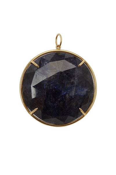 Emily & Ashley - Yellow Gold Blue Sapphire Pendant
