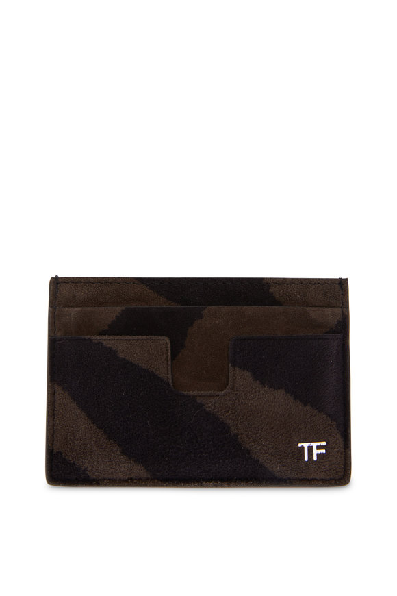 Tom Ford T-Line Musk & Black Suede Card Case