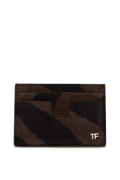 Tom Ford - T-Line Musk & Black Suede Card Case
