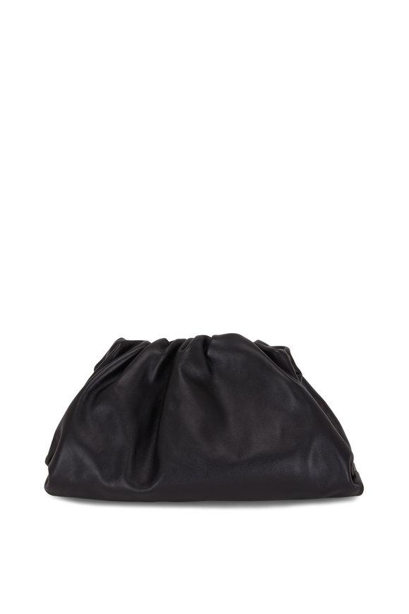 Bottega Veneta The Pouch Black Leather Large Clutch