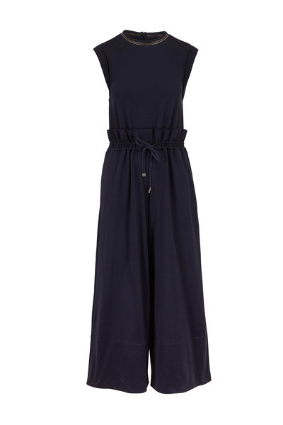 Brunello Cucinelli - Exclusively Ours! Midnight Cotton Monili Jumpsuit