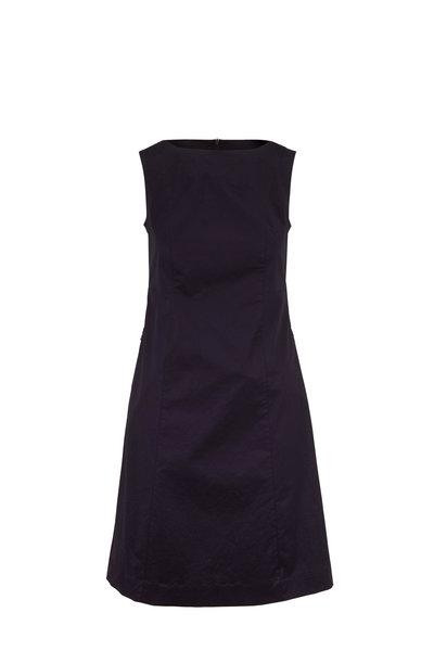 Bogner - Pinia Navy Stretch Cotton Sleeveless Shift Dress