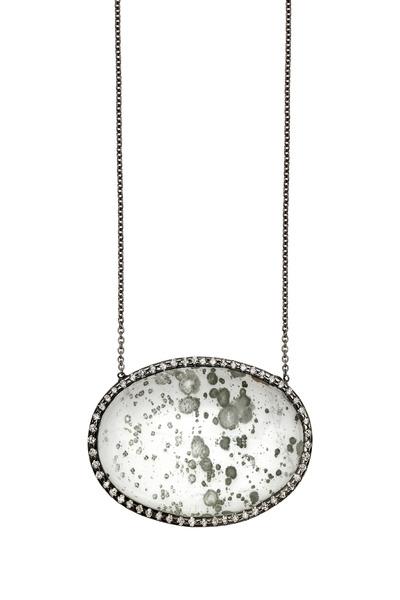 Kimberly McDonald - White Gold Phantom Quartz Diamond Pendant