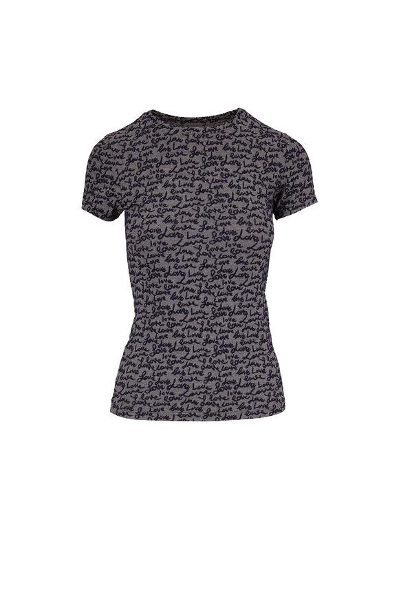 L'Agence Gray & Blue Love T-Shirt