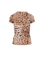 L'Agence - Ressi Brown Animal Print T-Shirt