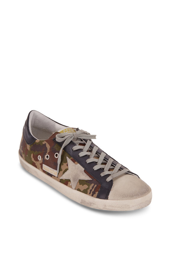 Golden Goose Superstar Camo Canvas Ice Star Sneaker