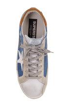 Golden Goose - Superstar Blue Denim White Leather Star Sneaker