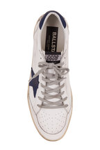 Golden Goose - Ball Star White Leather Blue Suede Star Sneaker