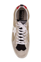 Golden Goose - Mid Star Sage Canvas White Star Sneaker