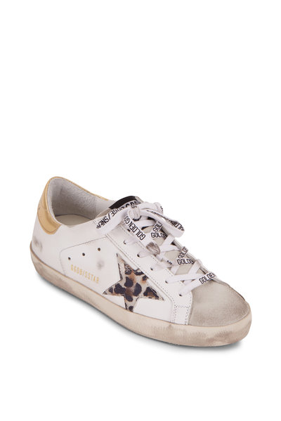 Golden Goose - Superstar White Leather Spotted Star Sneaker