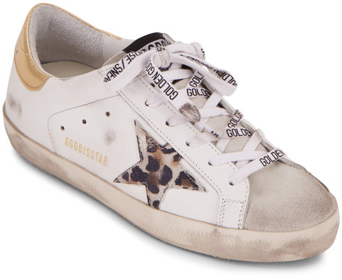 Golden Goose Superstar White Leather Spotted Star Sneaker