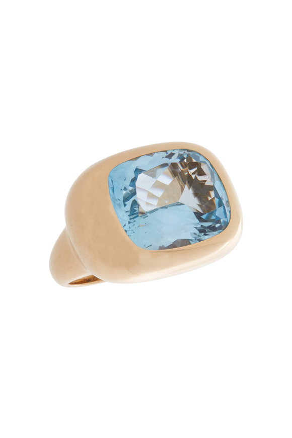 Robinson Pelham 18K Yellow Gold Phoenix Blue Topaz Ring