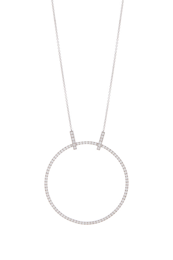 Robinson Pelham 18K White Gold Diamond Circle Necklace