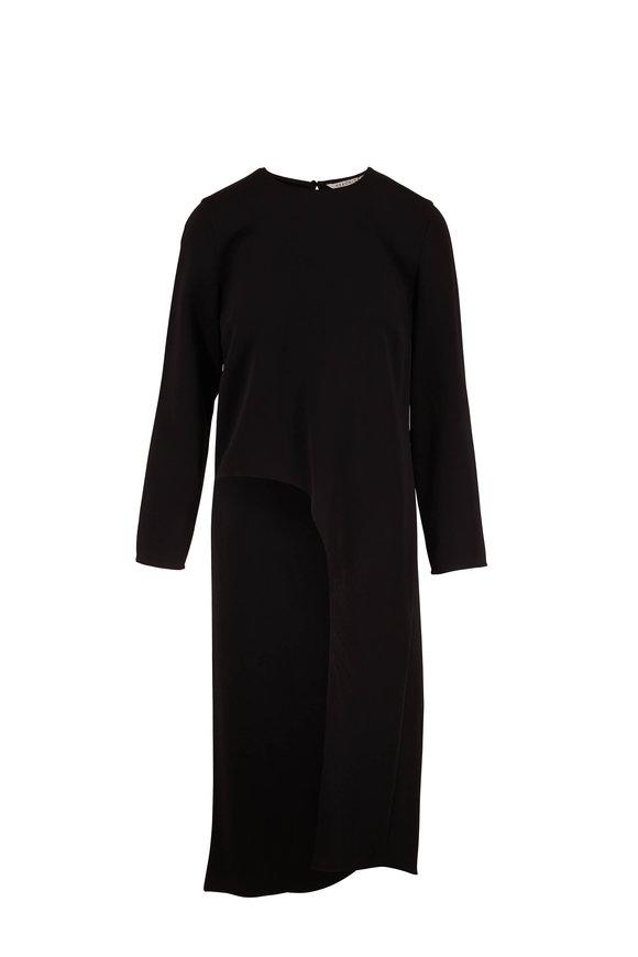 Veronica Beard Rome Black Long Sleeve Slit Tunic Top