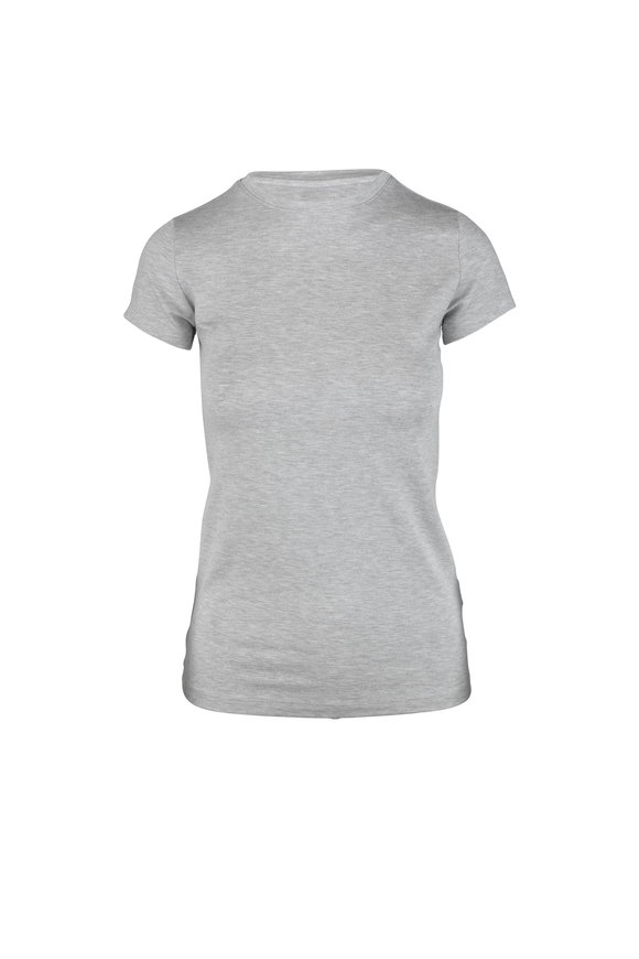 L'Agence Ressi Light Heather Gray T-Shirt