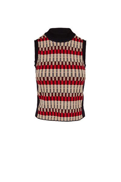 Rosetta Getty - Bauhaus Multicolor Jacquard Sleeveless Sweater