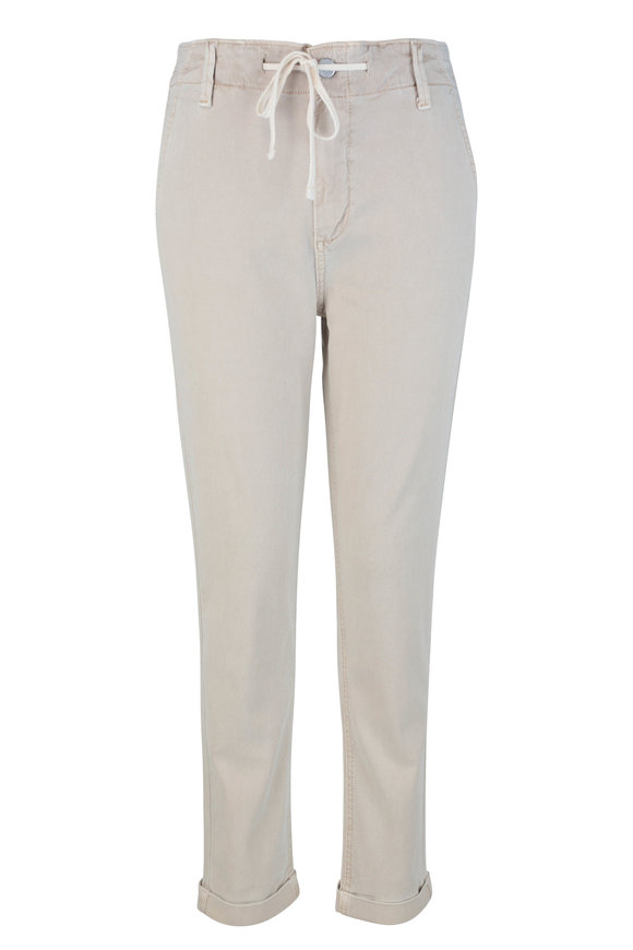 PAIGE Christy Vintage Warm Sand Drawstring Cuffed Pant