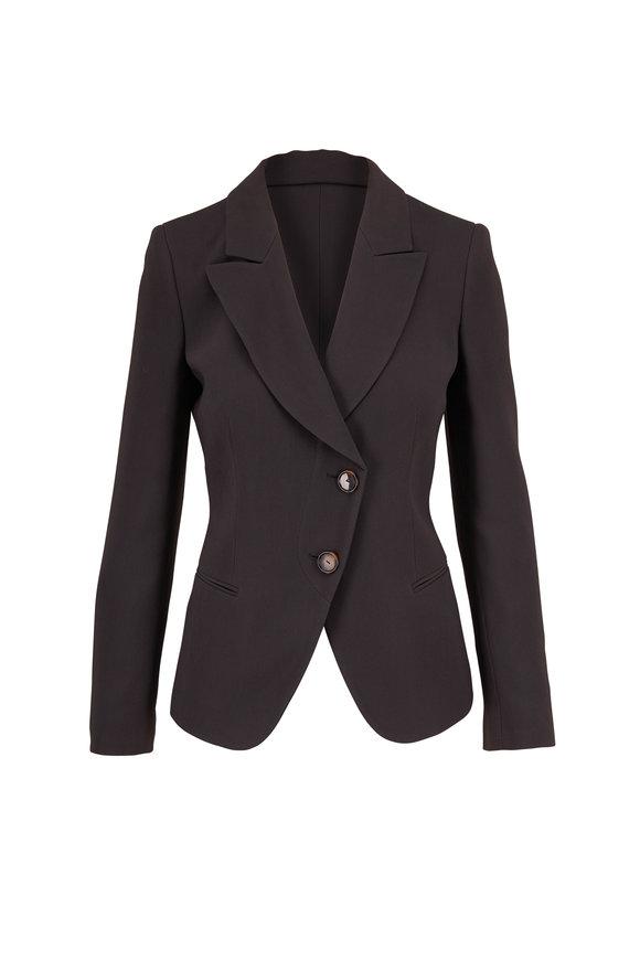 Giorgio Armani Cement Asymmetric Two Button Jacket