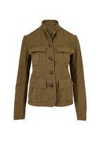 Nili Lotan - Cambre Uniform Green Cotton & Linen Jacket