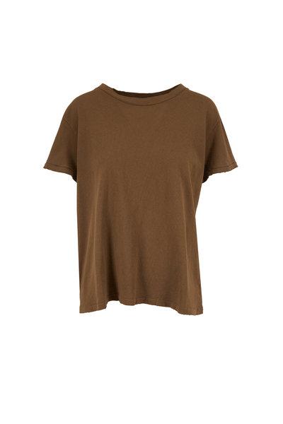 Nili Lotan - Brady Army Green Distressed T-Shirt