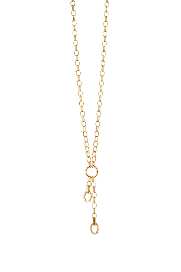 Monica Rich Kosann 18K Yellow Gold Charm Enhancer Chain Necklace